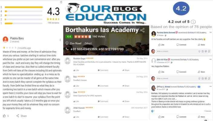 Borthakur's IAS Coaching in Guwahati Reviews
