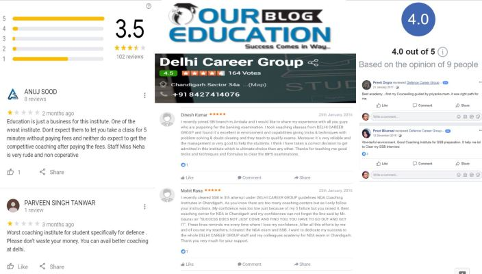 Delhi Career Group in Chandigarh Review
