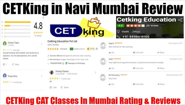 CETKing CAT Classes In Navi Mumbai Review
