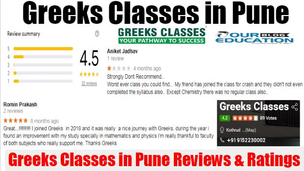Greeks Classes NEET Coaching Center in Pune Reviews.