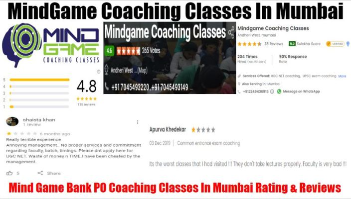 Mind Game Bank PO Coaching Classes In Mumbai Review
