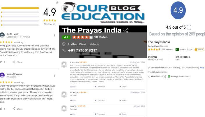 The Prayas India SSC Coaching Classes in Andheri Mumbai Reviews