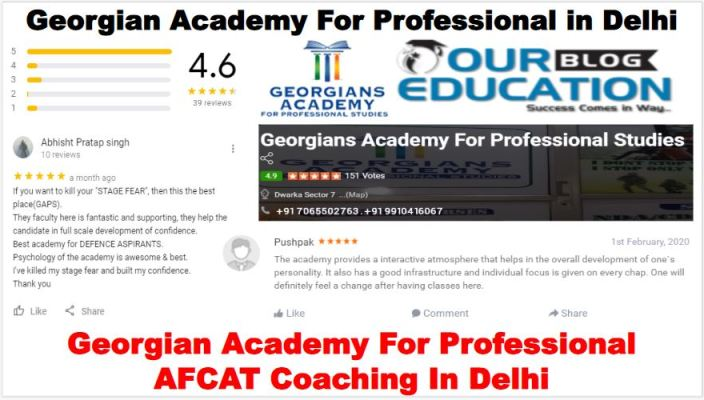 Georgian Academy For Professional AFCAT Coaching in Delhi Reviews
