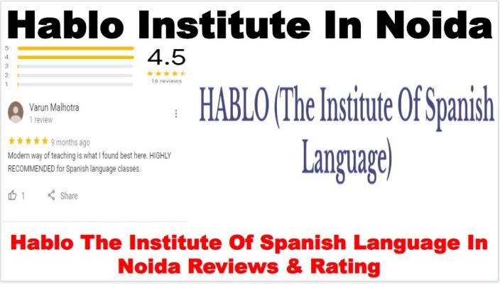Hablo The Institute Of Spanish Language In Noida Review