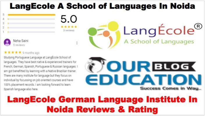 LangEcole German Language Institute in Noida Review