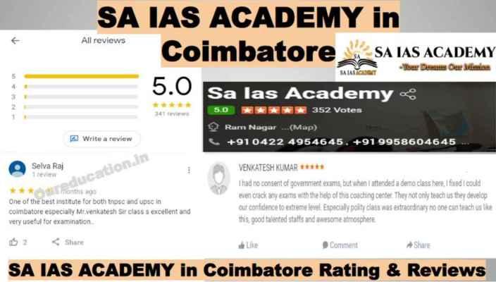 SA IAS Academy Coimbatore Reviews