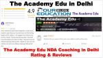 The Academy Edu NDA Coaching in Delhi Reviews