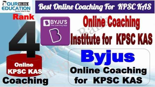 Rank 4 Best Online Coaching for KPSC KAS
