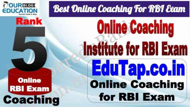 Rank 5 Best Online Coaching For RBI Exam