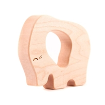 Natural Teething Ring - Elephant Wood Teether