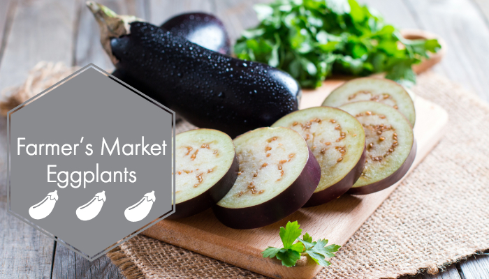 Farmer's Market eggplants