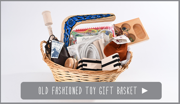 Old Fashioned Toy Gift Basket