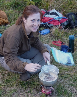 cooking pasta with a backpacking stove