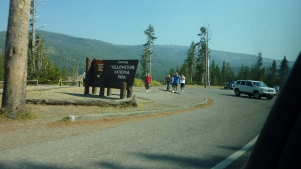 Tourists at Yellowstone