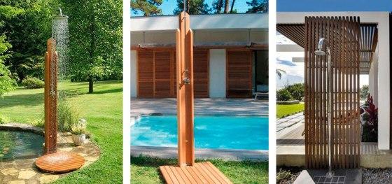 Duchas de madera para exteriores