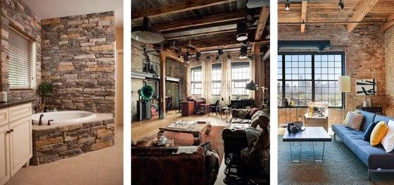 Colores y estilo industrial