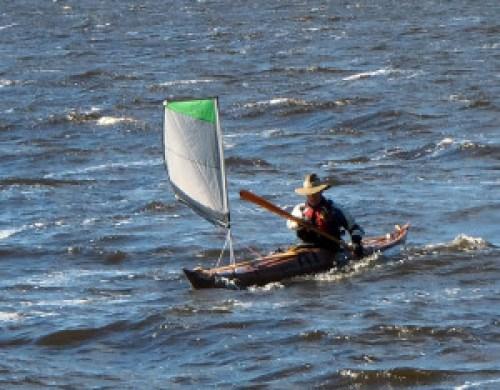 Learning to sail Viatrix on lake Vanaja. Spring 2015. Photo by courtesy of S. Jääskeläinen