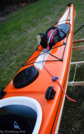 One possible way of having the rescue towline installed on the aft deck/towline cam-cleat. hitch thingy.