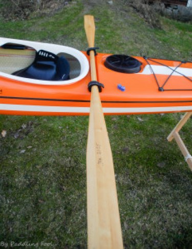 The kajaksport KS-selfrescue grips for paddle, test fitting for my spare GP paddle. It fits!
