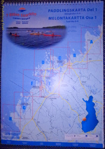 Kokkola isles map set. printed on water resistant paper, A3, ringbinder, 1:50,000