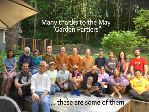 Thank you to everyone who helped make this a special day. Pictured are some of those who stayed for the tea following our day in the garden at the Pacific Hermitage.