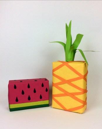 Geschenkverpackung Wassermelone und Ananas