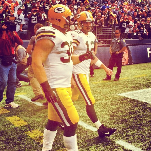 FB John Kuhn and QB Aaron Rodgers