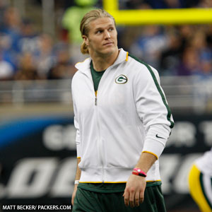 Green Bay Packers linebacker Clay Matthews