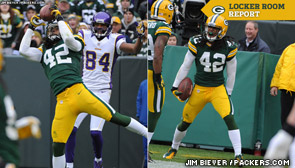 Green Bay Packers S Morgan Burnett interception triggers second-half rally to beat the Vikings