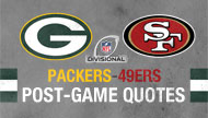 Packers-49ers post-game quotes