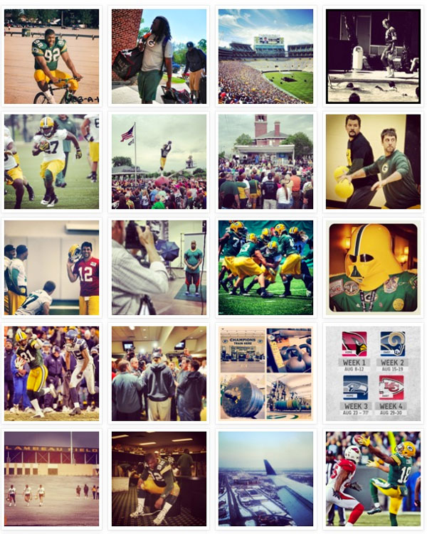 Follow the @packers on Instagram