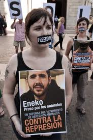 Protestas por represión animalistas