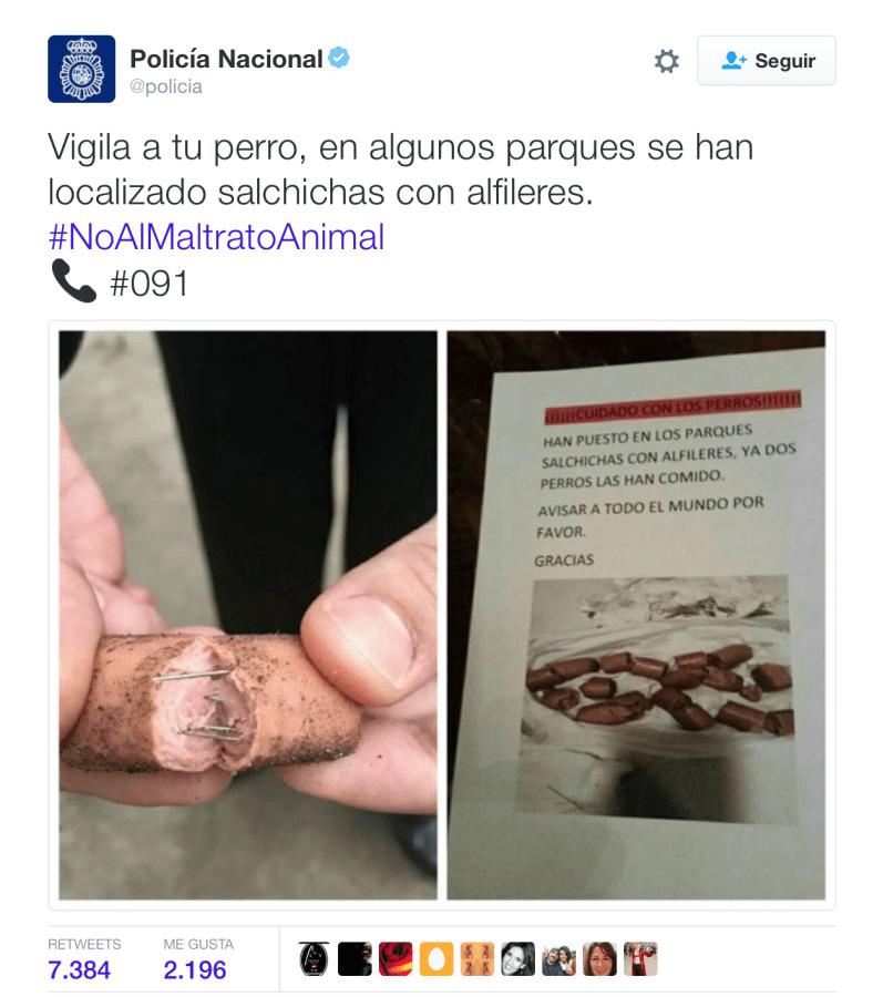 Policía Nacional tuit