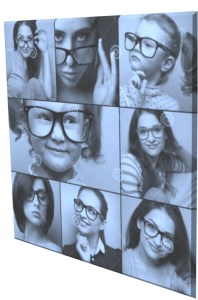 Collage of a group of people wearing spectacles. Spectacles are easy to adjust and wear. From kids to adult and old age people, everyone can wear that.