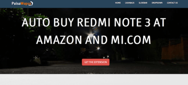 auto buy redmi note 3 at amazon and mi.com-extension