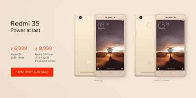 Buy Redmi3S / Redmi3S Prime on Next sale 24 Aug 2016