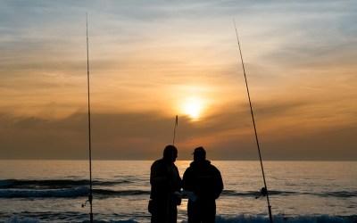 Modalidades de pesca de praia