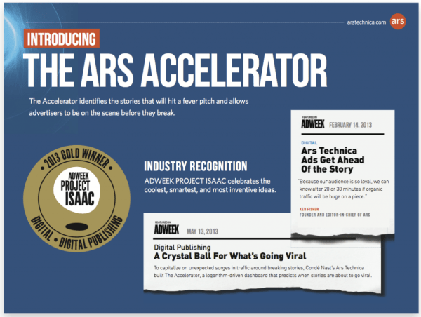 The Ars Accelerator
