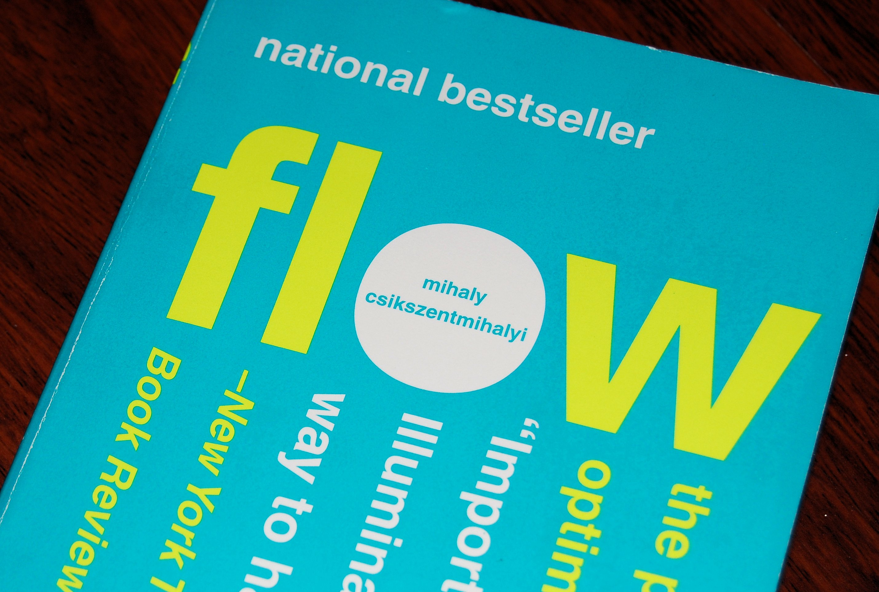 """Flow"" is an intriguing (if dense) book about productivity in creative endeavors."