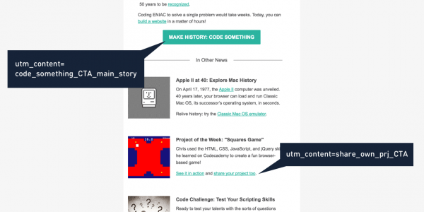 Codecademy newsletter