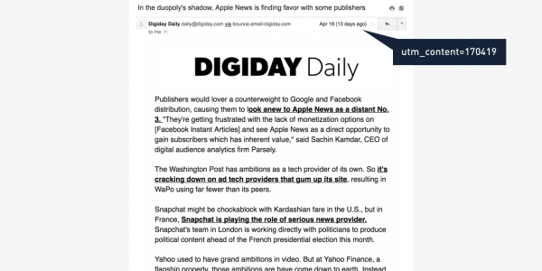 Digiday newsletter