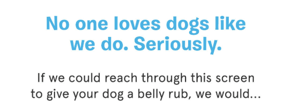 Barkbox welcome email