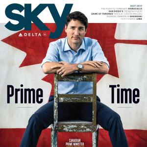 July 2017 Delta Sky cover