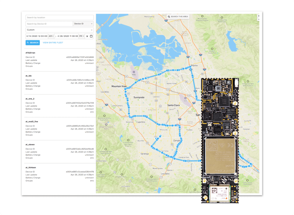 A geolocation interface for cold chain logistics