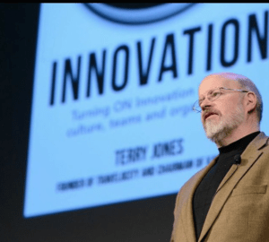 Terry Jones' determined speech on Innovation and Disruption.