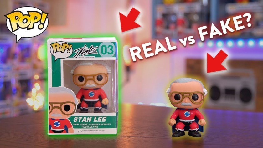Real and Fake pop figure