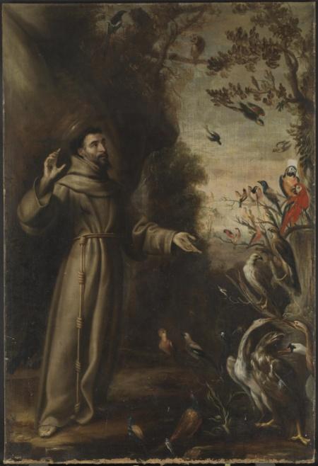San Francisco predicando a las aves, Carreño de Miranda, 1646.