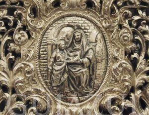 medallón trono virgen