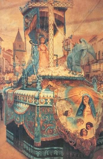 """Cuadro: """"La Doloricas por la Corredera"""" 1921 Francisco Cayuela Sánchez"""