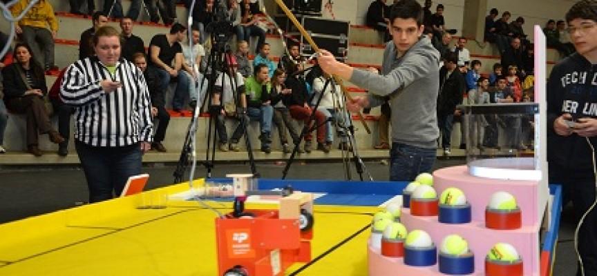 Lors des matches, le public peut se rendre compte des performances techniques des robots.
